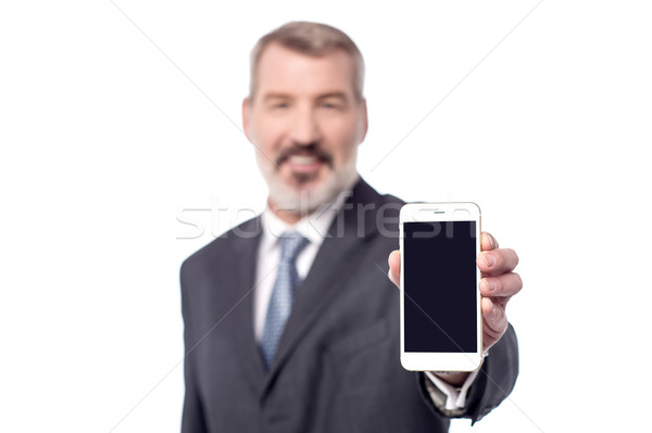 Brand new cellphone is out for sale, buy now! Stock photo © stockyimages