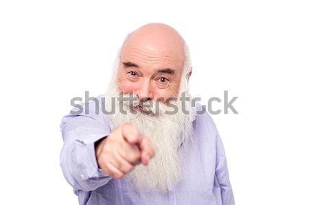 Następny jeden kolejka starszy człowiek wskazując Zdjęcia stock © stockyimages