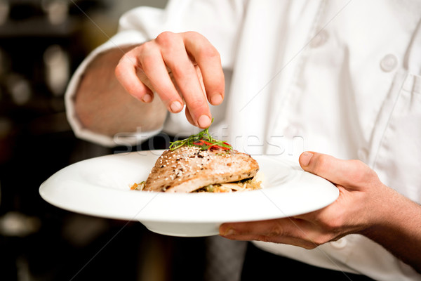 Tasty tuna appetizer is ready. Stock photo © stockyimages