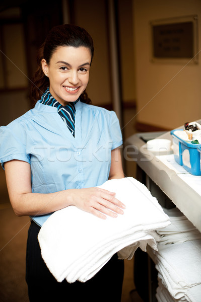 Bath towels are ready to be delivered Stock photo © stockyimages