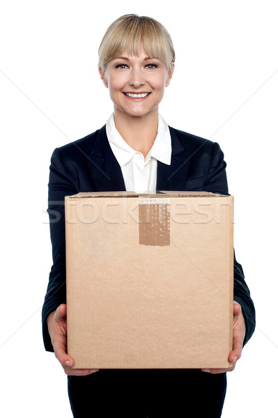 Stock photo: Its time to move to a new and bigger office