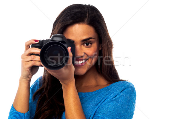 Smile Please! That's it... Stock photo © stockyimages