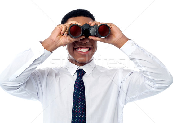 Young businessman hunting talents Stock photo © stockyimages