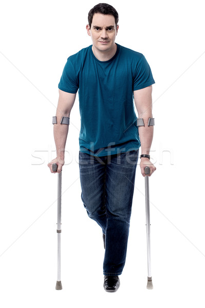 I am recovering from leg injury. Stock photo © stockyimages