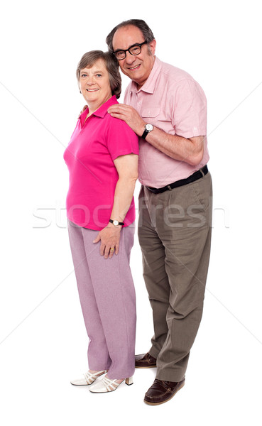 Full length portrait of matured love couple Stock photo © stockyimages