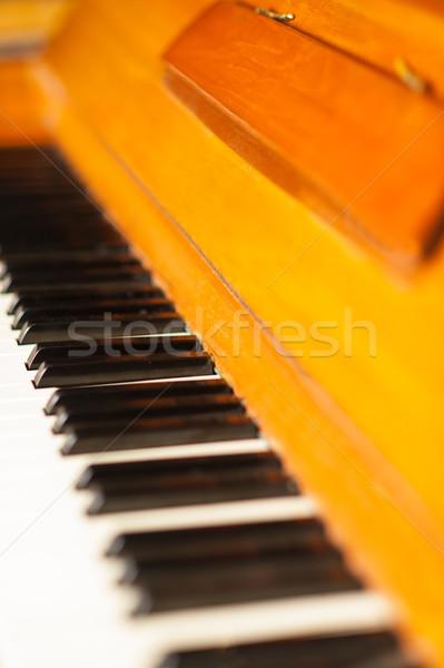 Сток-фото: фортепиано · клавиатура · выстрел · изображение · концерта