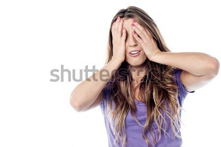 Woman seems to be totally surprised Stock photo © stockyimages