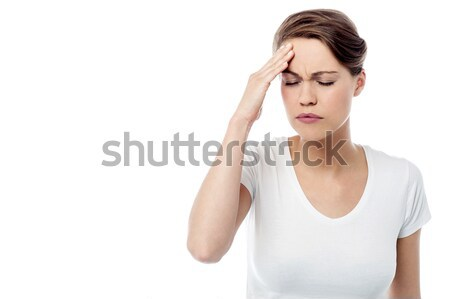 Woman has a migraine Stock photo © stockyimages