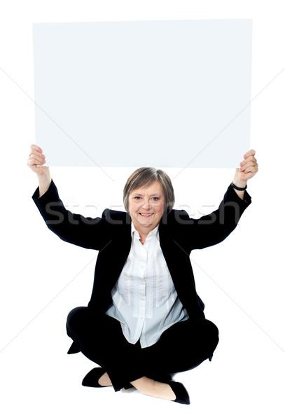 сидящий деловая женщина голову бизнеса Сток-фото © stockyimages