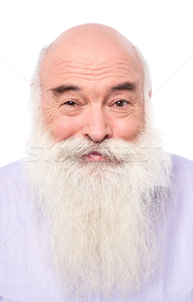 Stock photo: Close up portrait of an senior man