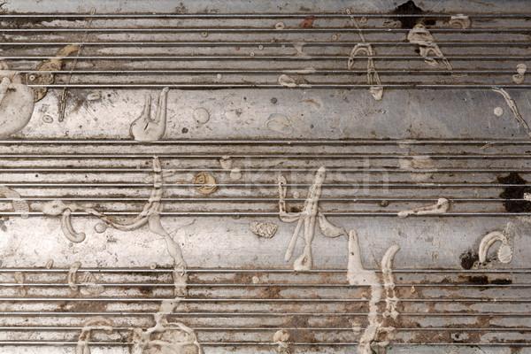 Grunge textuur industriële metaal textuur muur achtergrond Stockfoto © stockyimages