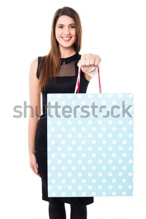 Shopaholic girl holdng shopping bags Stock photo © stockyimages