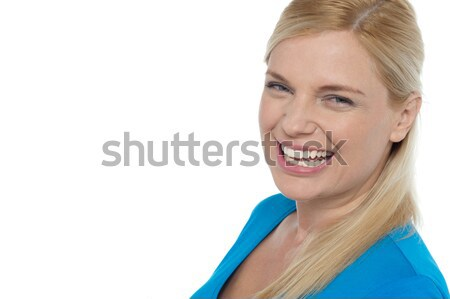 Woman in casuals sharply looking away Stock photo © stockyimages