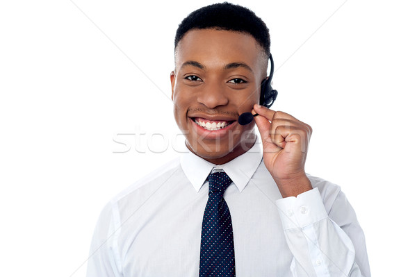 Stock photo: How can I assist you today?