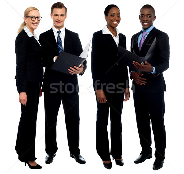 Successful business team discussing operations Stock photo © stockyimages