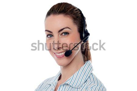 Female help desk executive Stock photo © stockyimages