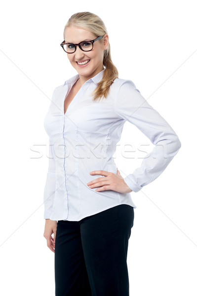 Stunning corporate woman staring at you Stock photo © stockyimages
