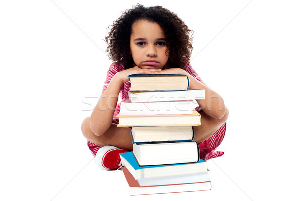 Overwhelmed by studying homework. Stock photo © stockyimages