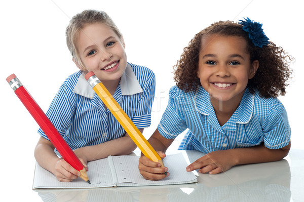 Kids writting their assignment Stock photo © stockyimages