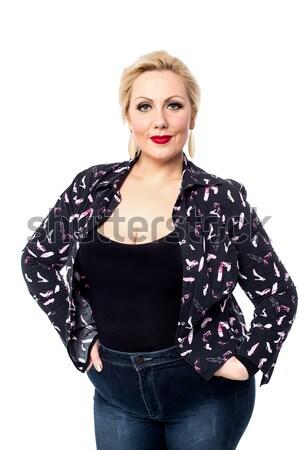 любви новых моде красивая женщина позируют модный Сток-фото © stockyimages