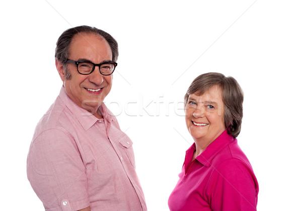 Senior couple. Love birds posing Stock photo © stockyimages