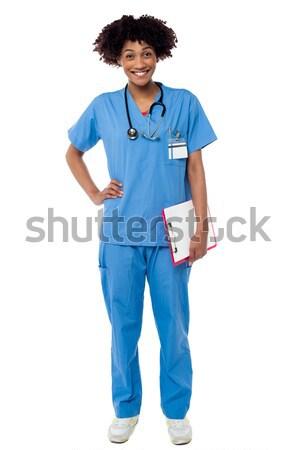 Foto stock: Retrato · jóvenes · médicos · profesional · encantador