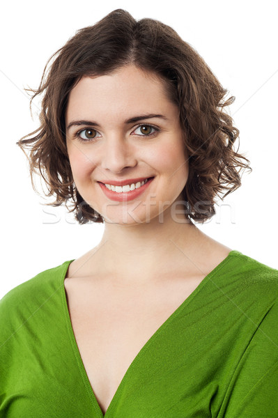 Pretty young smiling female model Stock photo © stockyimages
