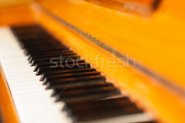 Closeup of the piano keys Stock photo © stockyimages