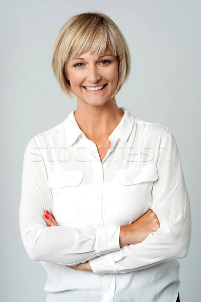 Attractive confident woman Stock photo © stockyimages