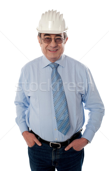Successful aged builder posing in style Stock photo © stockyimages