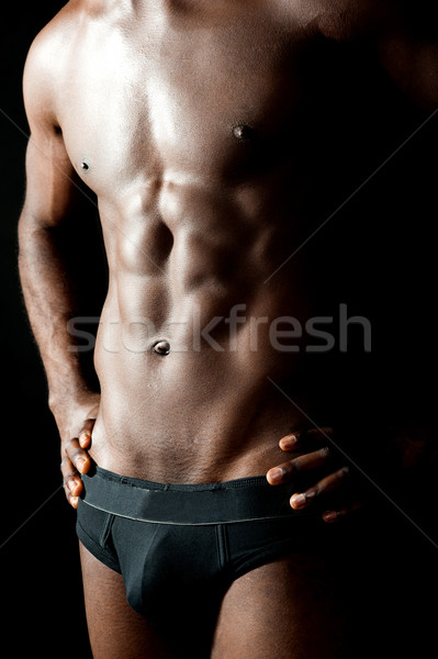 Shirtless underwear male model posing in style Stock photo © stockyimages