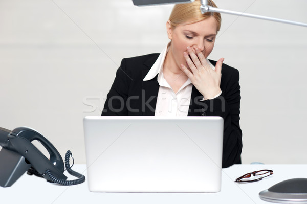 It has been a long day at work Stock photo © stockyimages
