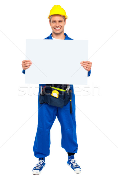 Industriali imprenditore cartellone shot Foto d'archivio © stockyimages