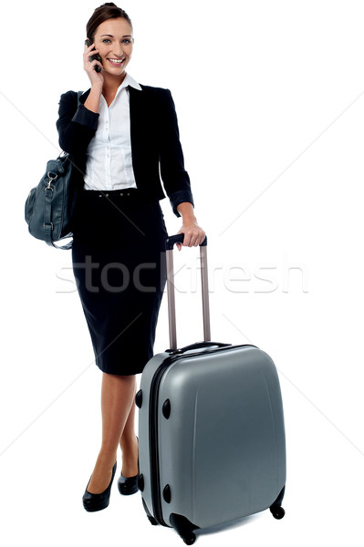Hello darling, i am waiting in airport. Stock photo © stockyimages