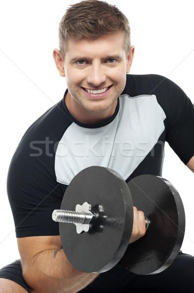 тренировки время выстрел мужской человека Сток-фото © stockyimages