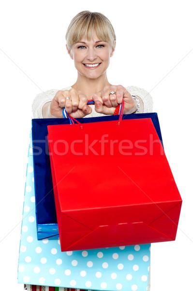 ストックフォト: 女性 · ショッピングバッグ · 腕