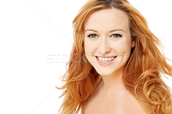 Beauty woman with shiny golden hair Stock photo © stockyimages