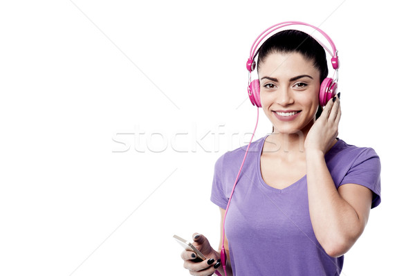Listening my favorite song ! Stock photo © stockyimages