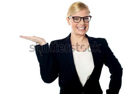 Company secretary representing copyspace Stock photo © stockyimages
