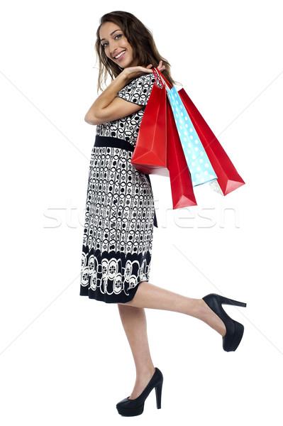 I am done with my shopping! Stock photo © stockyimages