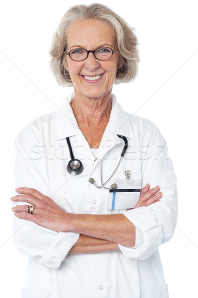 Experienced female physician Stock photo © stockyimages