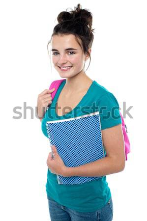 Pretty teenager ready to attend college Stock photo © stockyimages
