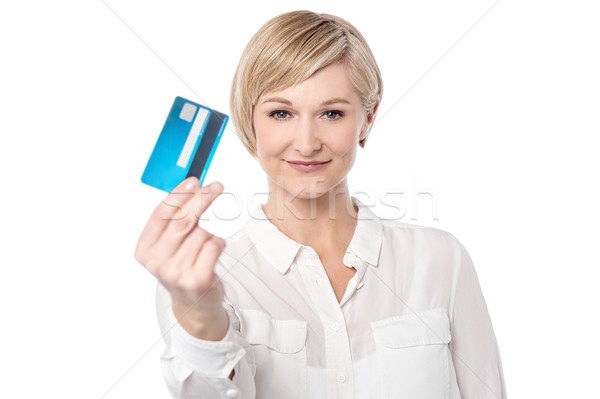 Shop ease with credit card.  Stock photo © stockyimages