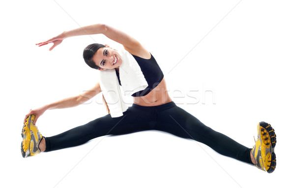 Sporty teenager doing flexibility exercises Stock photo © stockyimages
