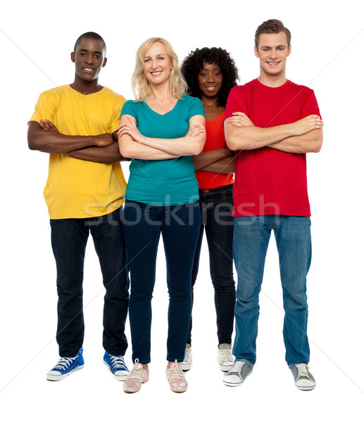 Team of young people posing in style Сток-фото © stockyimages