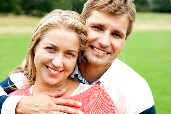 Couple embracing in love. Bonding and true love Stock photo © stockyimages