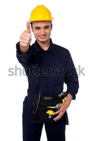 Confident cheerful female architect Stock photo © stockyimages