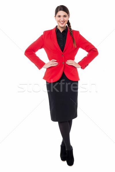 Belo mulher jovem traje de negócios elegante jovem negócio Foto stock © stockyimages