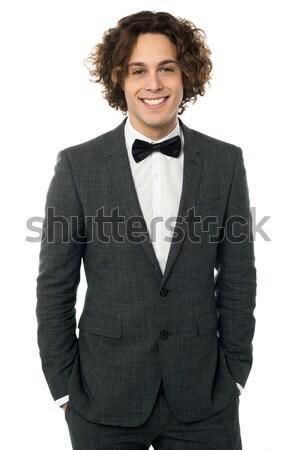Jeunes marié up blazer puce Photo stock © stockyimages