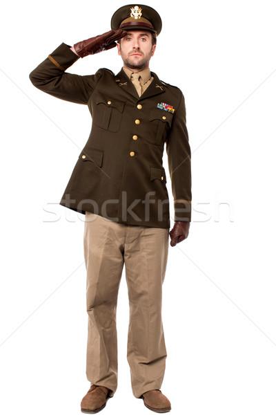 Mijn land veteraan officier wereld oorlog Stockfoto © stockyimages